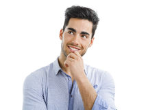 Handsome man thinking Stock Images