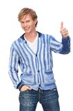 Handsome Man with Thumbs Up Royalty Free Stock Photos