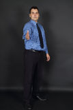 Handsome man in tie and blue shirt Royalty Free Stock Image