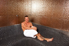 Handsome Man In Turkish Sauna Royalty Free Stock Images