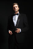 Handsome man in a tuxedo Royalty Free Stock Photography