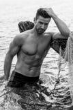 Handsome man in unerwear. royalty free stock photo