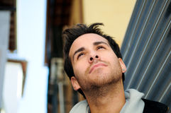 Handsome man in urban background Royalty Free Stock Photos