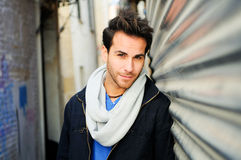 Handsome man in urban background Royalty Free Stock Photo