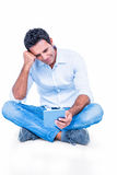 Handsome man using tablet computer Royalty Free Stock Photo
