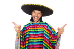 Handsome man in vivid poncho Stock Photography