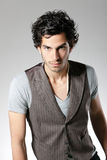 Handsome man with waistcoat Stock Photography