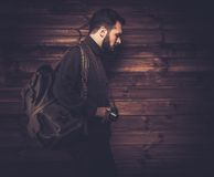Handsome man wearing cardigan Stock Photo
