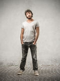 Handsome man wearing casual cloths Stock Photo