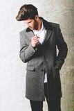 Handsome man wearing coat Royalty Free Stock Photo