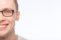 Handsome man wearing glasses Stock Photography