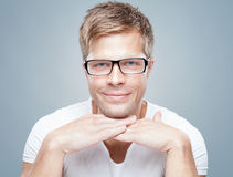 Handsome man wearing glasses Royalty Free Stock Photo