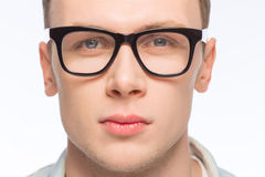 Handsome man wearing glasses Stock Image
