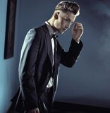 Handsome man wearing suit Stock Image