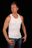 Handsome man wearing vest Stock Photography