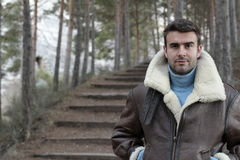 Handsome man wearing warm clothing Royalty Free Stock Photo