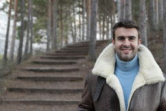 Handsome man wearing warm clothing Stock Photo