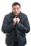 Handsome man wearing a winter coat Stock Image
