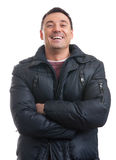 Handsome man wearing a winter coat Royalty Free Stock Photography