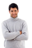 Handsome man wearing woolen sweater Stock Photography