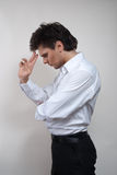 Handsome man in white shirt Stock Photo