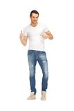 Handsome man in  white shirt Royalty Free Stock Photos