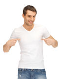 Handsome man in white shirt Stock Images