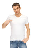 Handsome man in white shirt Royalty Free Stock Images