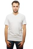 Handsome man in white shirt Stock Photo