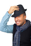Handsome Man With Black Hat Stock Images
