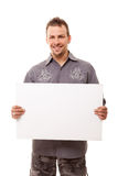 Handsome Man With Board Stock Images