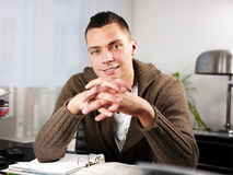 Handsome man at work Royalty Free Stock Image