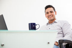 Handsome man at work Stock Images