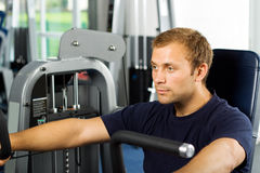 Handsome man working out Stock Photography