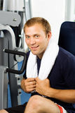 Handsome man working out royalty free stock photos