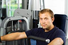 Handsome man working out Royalty Free Stock Photo