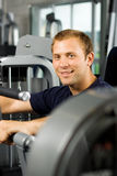Handsome man working out Royalty Free Stock Images