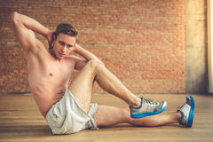 Handsome man working out Royalty Free Stock Photography