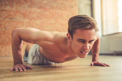 Handsome man working out Stock Image