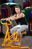 Handsome man workout Stock Images