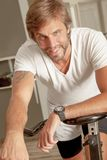 Handsome Man Young Sporty Gym Royalty Free Stock Photo