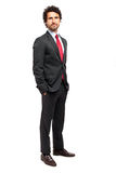 Handsome manager full length isolated on white Stock Image