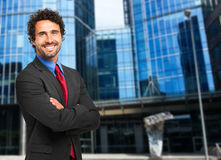 Handsome manager outdoor Royalty Free Stock Photos