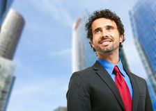 Handsome manager portrait outdoor Stock Photography