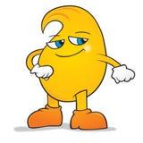 Handsome mango cartoon. Smiling happy handsome mango cartoon Royalty Free Stock Photos