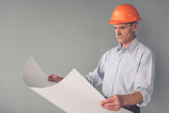 Handsome mature architect Stock Photography