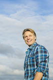 Handsome mature blond man in his forties Stock Photography