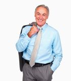 Handsome mature business man standing casually Stock Photo