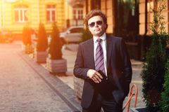 Handsome mature businessman outdoor Stock Image