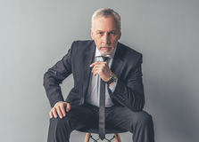 Handsome mature businessman royalty free stock image